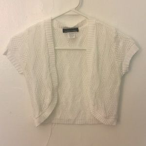 2 For $14 White Knit Short Sleeve Shrug